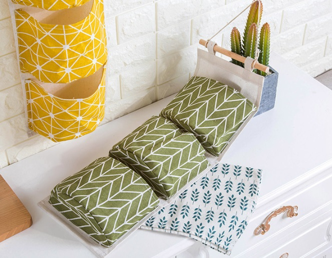 Купить карманы на стену Елочка зеленый 67 x 20 см