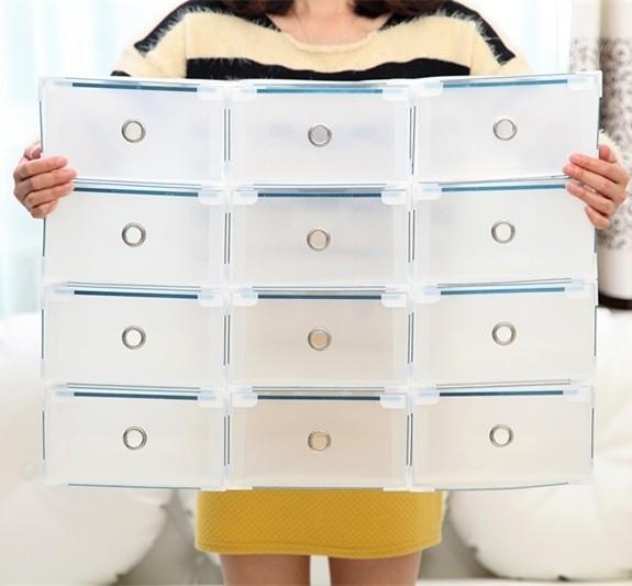 Купить коробку для обуви Melani прозрачную 34 x 22 x 13 см