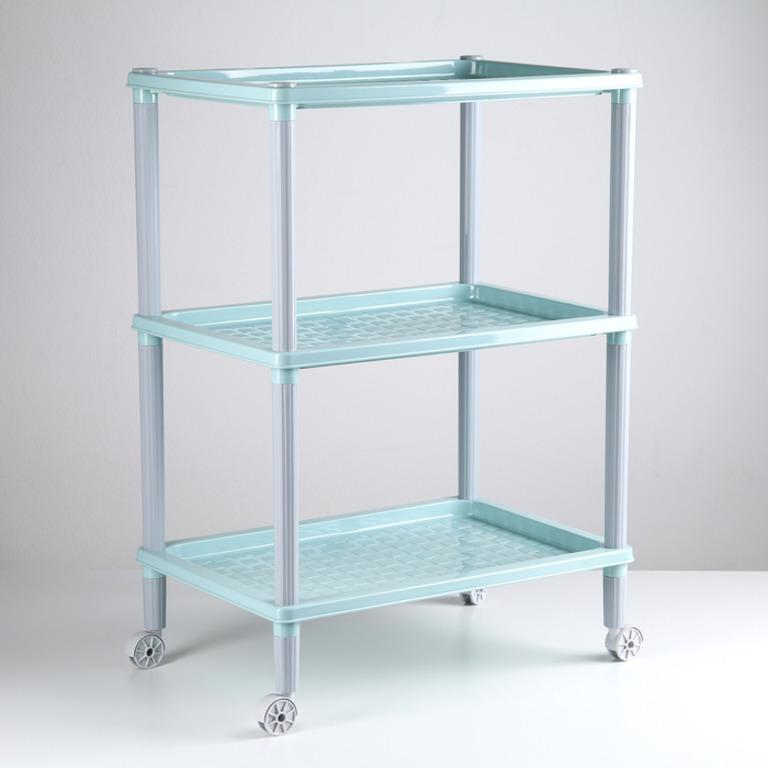 Купить этажерку напольную трехсекционную Urban на колесиках 42 х 29 х 61 см
