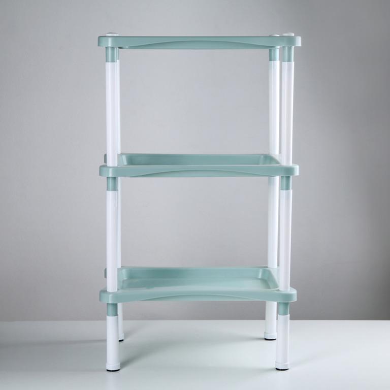 Купить этажерку напольную трехсекционную Лагуна серый 40,2 х 27,8 х 68 см