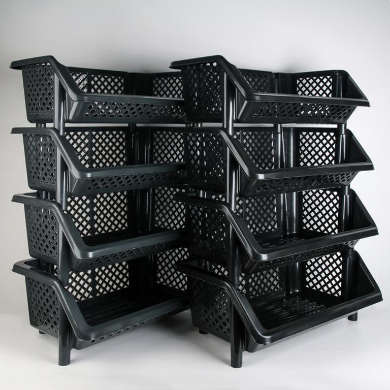 Купить этажерку напольную четырехсекционную Сетка 60 х 37,5 х 89,5 см