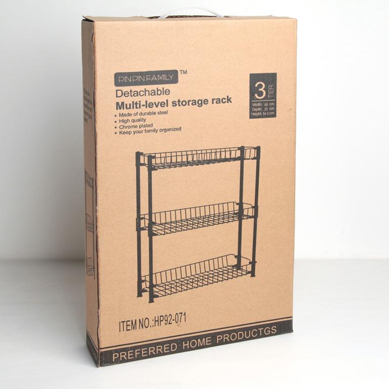 Купить этажерку настольную трехсекционную 48 x 26 x 54,5 см