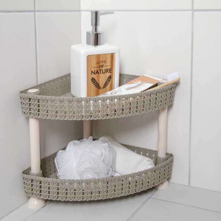 Купить этажерку настольную угловую двухъярусную Knit 29 х 21 х 20 см