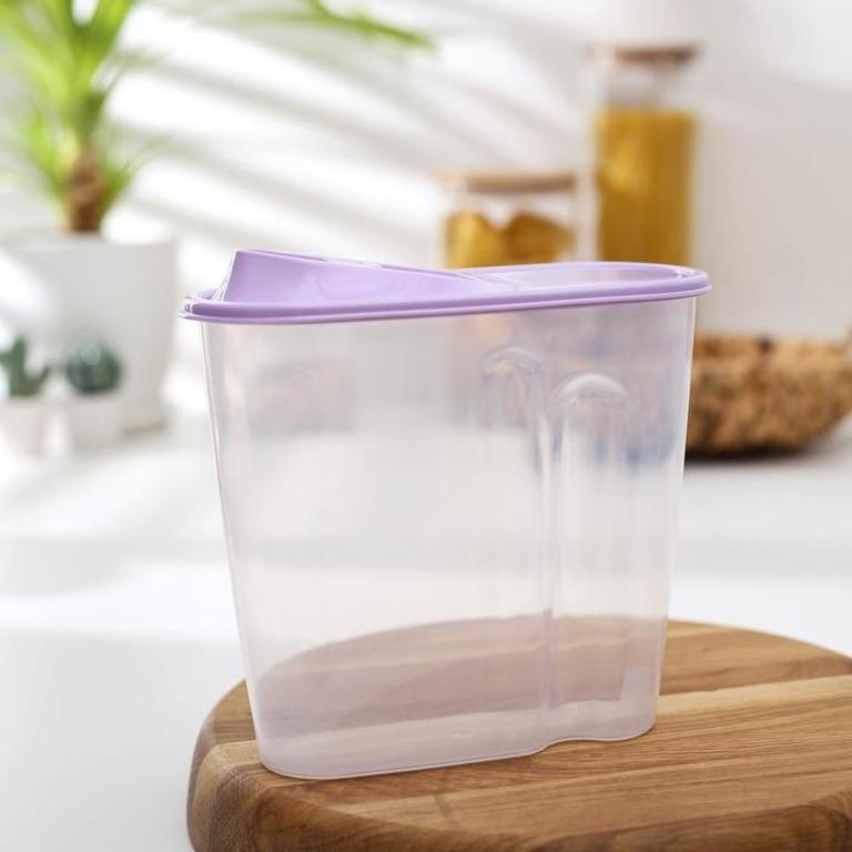 Купить емкость для сыпучих продуктов 1,5 л 17 х 9 х 19 см