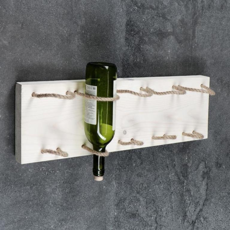 Купить полку для вина Manhattan белый 59 x 4 x 19 см