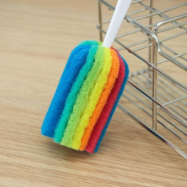 Купить ершик для посуды с абразивом Rainbow 25 x 4 см