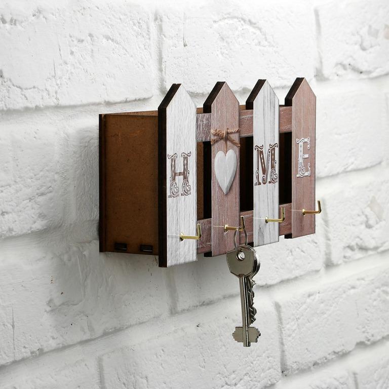 Купить ключницу Заборчик 4 крючка 21,9 х 7,2 x 11,9 см