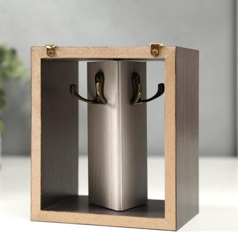 Купить ключницу открытую Venge коричневый 13 х 9,5 x 15 см
