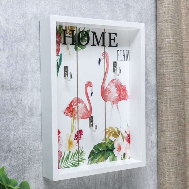 Купить крючки декоративные Flamingo Flower белый 18 х 4 x 25 см