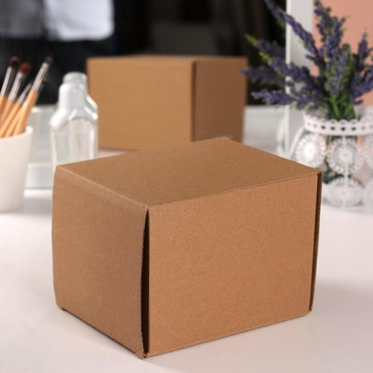 Купить бокс для косметических принадлежностей, 3 выдвижных ящика коричневый 14 x 12 x 11,5 см