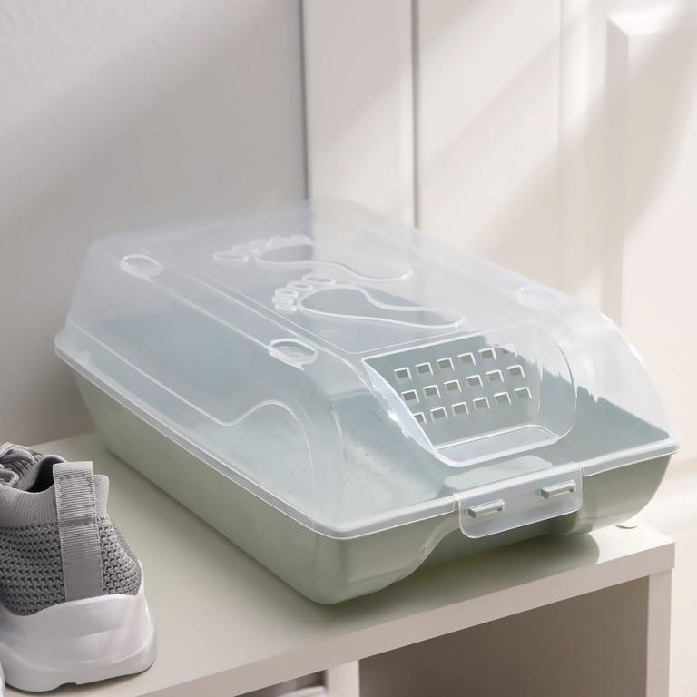 Купить коробку для хранения обуви Trace голубой 37 х 22 х 14 см