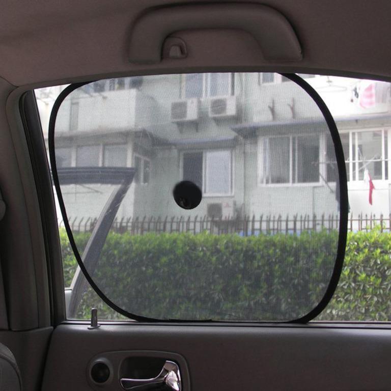 Купить шторки солнцезащитные для авто на присосках 2 шт 36 х 44 см