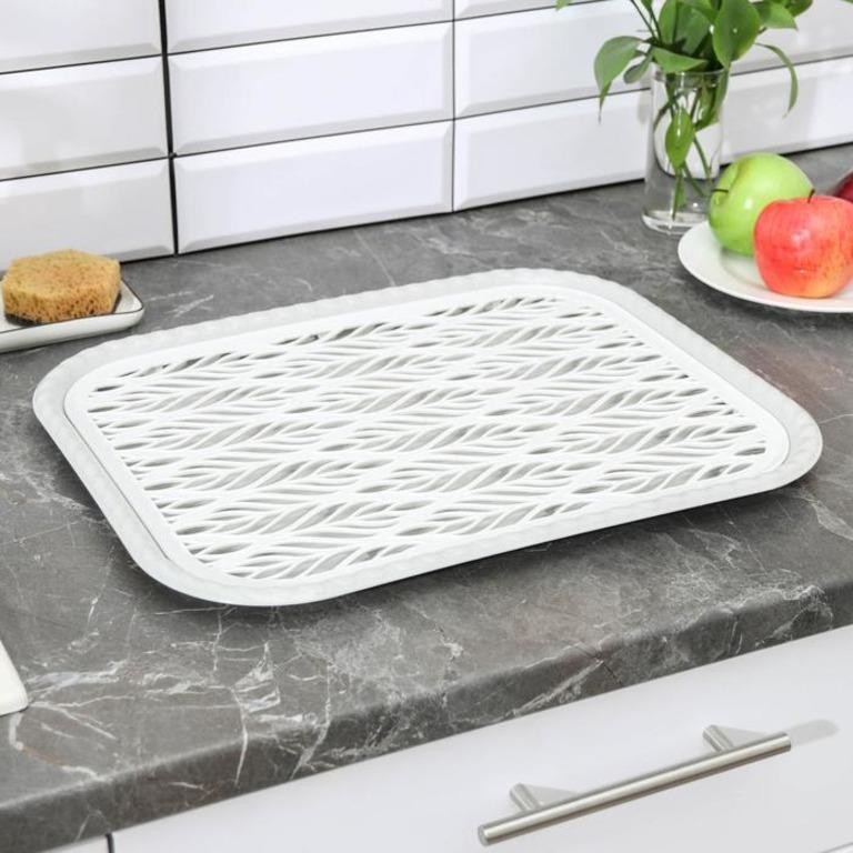 Купить поднос с вкладышем для сушки посуды Поле 45,5 x 36 x 2 см