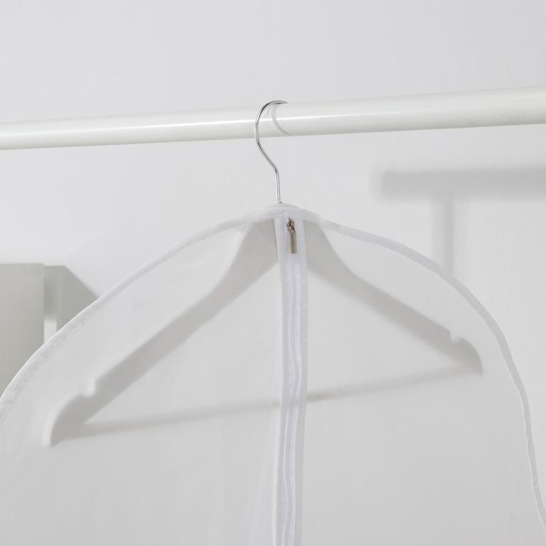 Купить чехол для одежды плотный белый 80 x 80 см