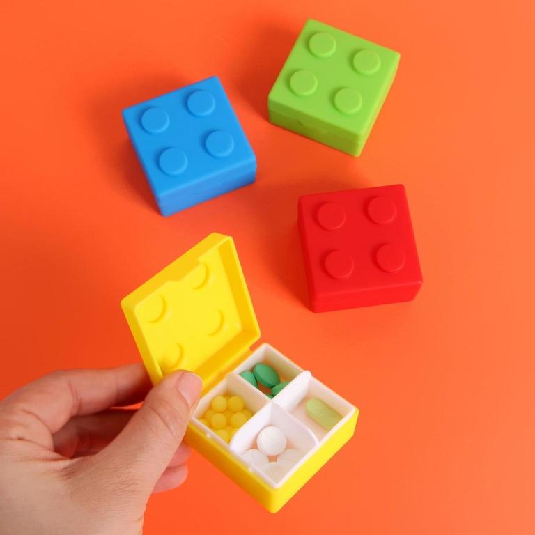 Купить таблетницу Конструктор 4 секции 3,3 х 3,3 х 5,5 см