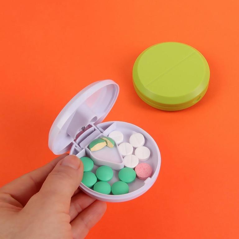 Купить таблетницу с делителем 1 секция 7 х 7 х 2,3 см