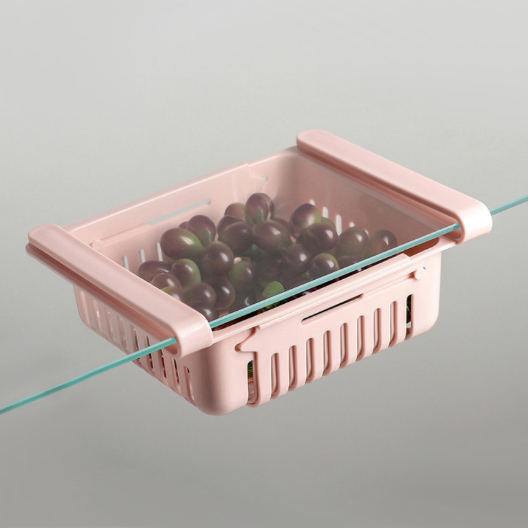 Купить полку подвесную в холодильник, раздвижную 23-28 x 16,5 x 8 см