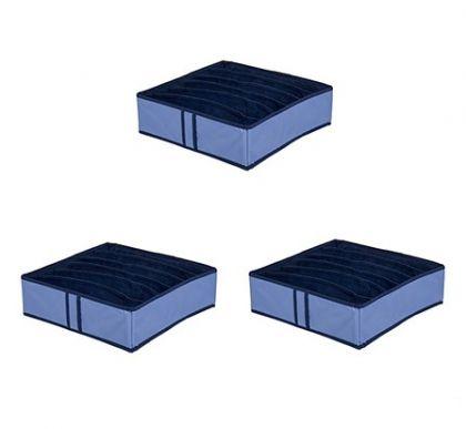 Комплект из 3х органайзеров на 18 боксов для бюстгальтеров Blu sky
