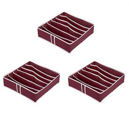 Комплект из 3х органайзеров на 18 боксов для бюстгальтеров Red Rose