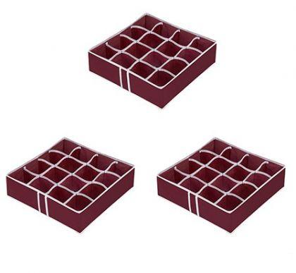 Комплект из 3х органайзеров на 48 боксов для мелочей Red Rose