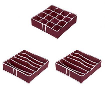 Комплект из 3х органайзеров на 28 боксов Red Rose