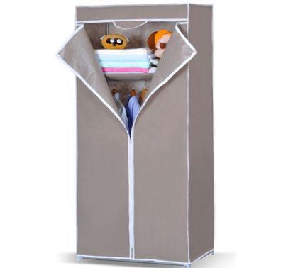 """Тканевый шкаф """"Кармэн"""", серый, 70,5 x 44 x 155 см"""