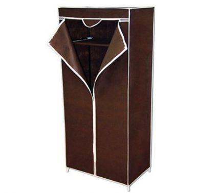 Тканевый шкаф Кармэн, темно-коричневый