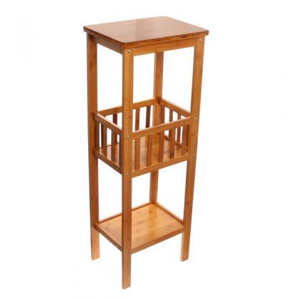 Этажерка из бамбука 3 уровня 38x28x90см