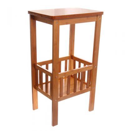 Этажерка из бамбука 2 уровня 38x28x67см