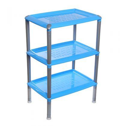 Этажерка многофункциональная 3 уровня, голубая