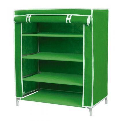 Тканевый шкаф для обуви Маджор, темно-зеленый