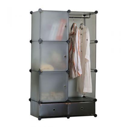 Кубический шкаф из 8 модулей с дверцами