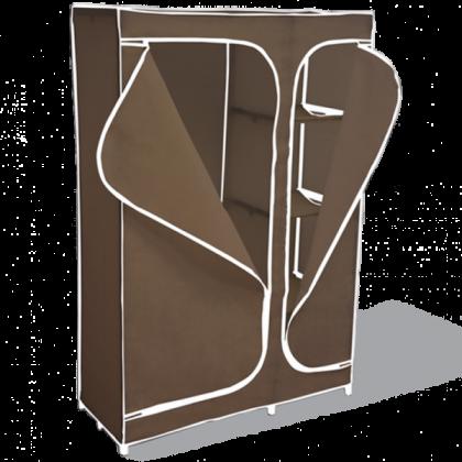 Тканевый шкаф Гардероб, темно-коричневый