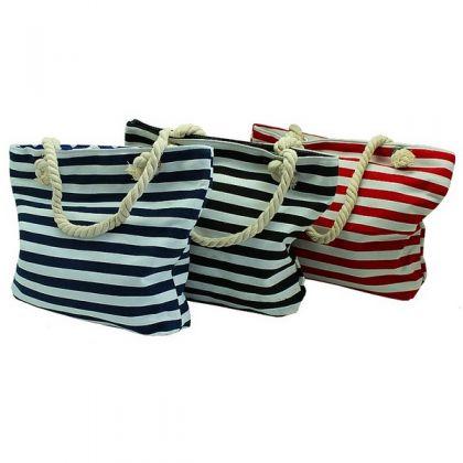 Пляжная сумка в маленькую полоску, разные цвета