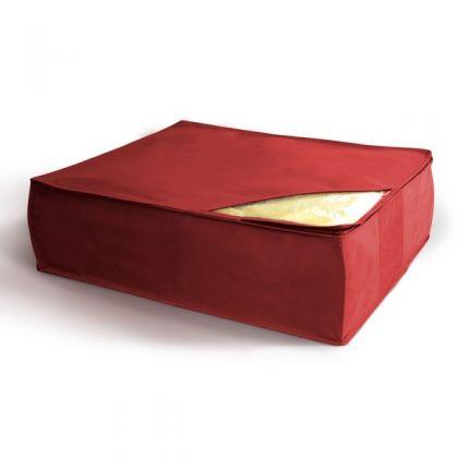 Чехол для хранения подушек и одеял, бордовый, 50 x 58 x 19 см