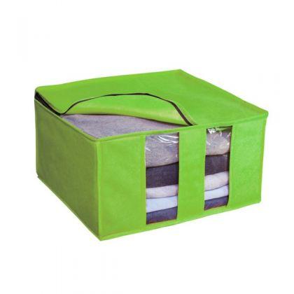 Раскладная коробка для вещей 40x40x25 см, салатовая