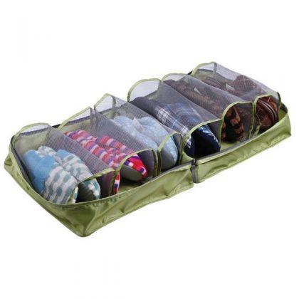 Органайзер для обуви на 6 отделов, зеленый