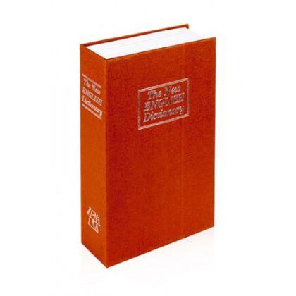 Шкатулка-книга с ключом The New English Dictionary, оранжевая