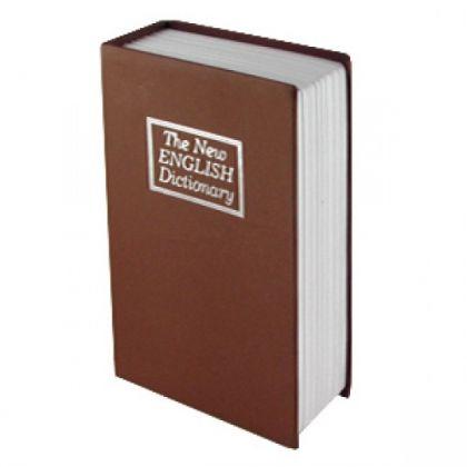 Шкатулка-книга с ключом The New English Dictionary, коричневая