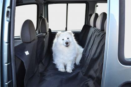 Автогамак для перевозки собак в салоне, с защитой дверей, черный, 160 х 150 см