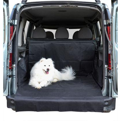 Автогамак для перевозки собак в багажнике, черный, 100 х 120 х 70 см