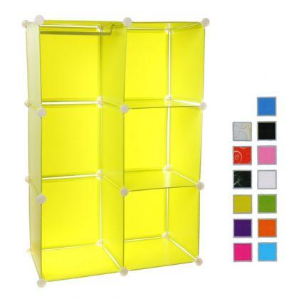 Кубический шкаф 74x37x110 см, разные цвета