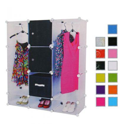 Кубический шкаф 127x37x110 см, разные цвета