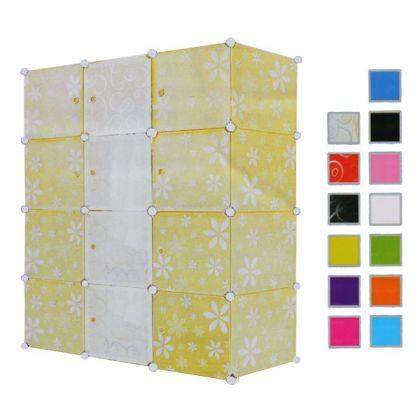 Кубический шкаф 12 отделов 145x37x110 см, разные цвета