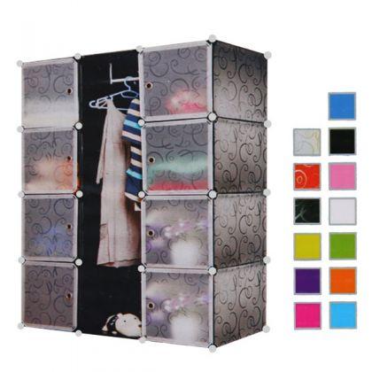 Кубический шкаф 9 отделов 145x37x110 см, разные цвета