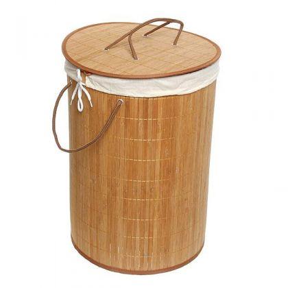 Корзина для белья 35x50 см бамбук, дерево