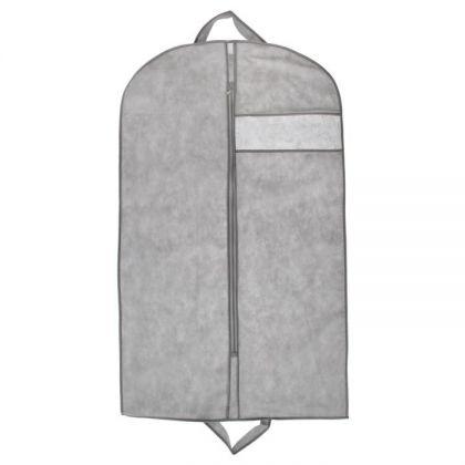 Чехол для одежды 100х60 см, с окошком, цвет серый