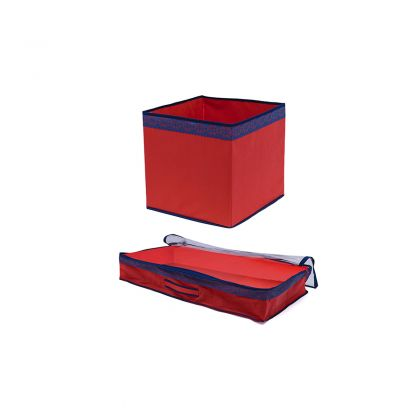 Комплект коробка 32 см и чехол для одеял Rosso