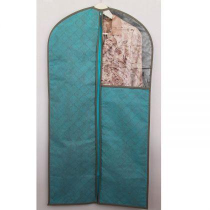 Чехол с окошком для одежды 110x57 см, голубой