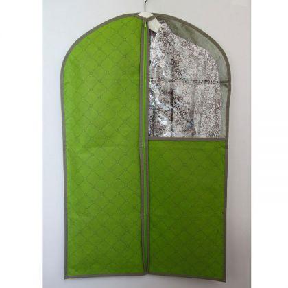 Чехол с окошком для одежды 110x57 см, зеленый